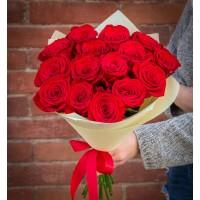 Букет изм 15 Элитных красных роз (Эквадор)