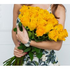 Букет из 25 Элитных желтых роз (Эквадор)