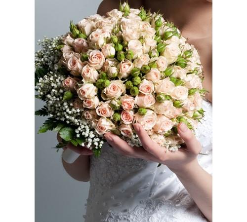 Свадебный букет невесты  №4 (МарьеКрэм)