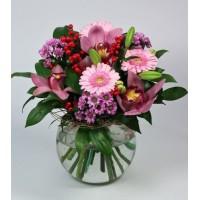 Букет Нежность с орхидеями