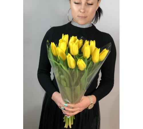 Элитные желтые тюльпаны 15 шт