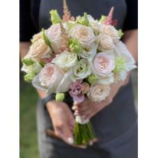 Букет свадебный с пионовидной розой