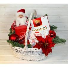 """Корзина новогодняя """"Санта"""" 2"""