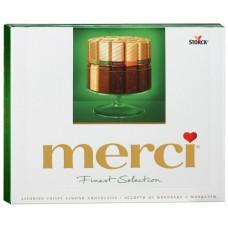 Конфеты шоколадные Merci с миндалем 250г
